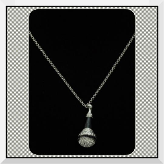 Other NEW Austrian Crystal Silver Tone Microphone Necklace/Choker