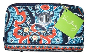 Vera Bradley Marrakesh Blue Orange Turnlock Wallet Vera Bradley NWT $49