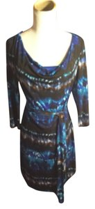 Muse short dress Blue/Aqua/Navy/Black/White/Brown on Tradesy