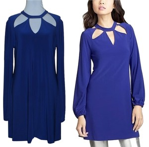 Norma Kamali Everlast Cut-out Longsleeve Mini Dress