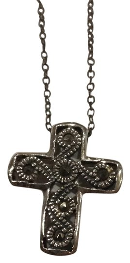 Preload https://item4.tradesy.com/images/silver-sterling-cross-necklace-4982188-0-8.jpg?width=440&height=440