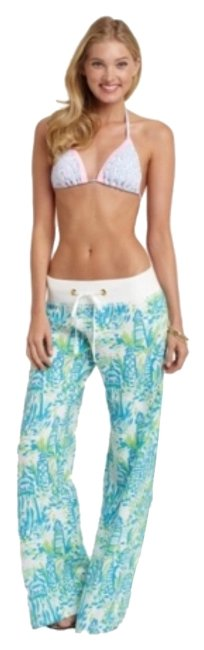 Item - Blue Green White Pink High Beams Pants Size 4 (S, 27)