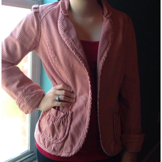Free People Red Womens Jean Jacket