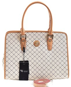 Rioni Stn-20268 Satchel in Natural Ivory