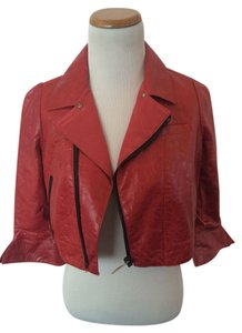 Elise Overland Red Leather Jacket