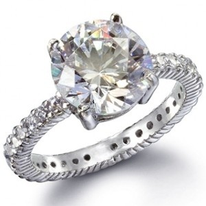 Silver/Sterling Silver Classic Cz Solitaire Ring
