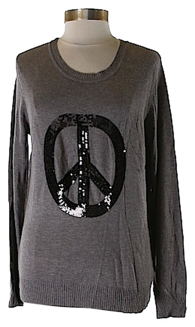 Item - Peace Sign Charcoal Gray Sweater