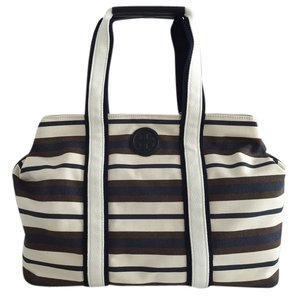 Tory Burch Tote in Robinson Stripe Raisin
