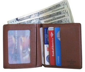 Louis Vuitton Louis Vuitton Bill-Fold Simple, Light, Thin, Unisex Wallet ID Window Credit Cards Bill Currency Check Pocket for Nice Dinner, Clubs