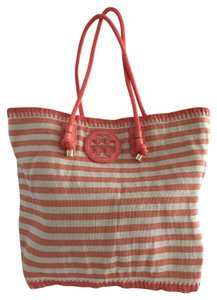 Tory Burch Tote in Snap Dragon Classic Awning Stripe