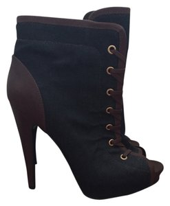 Roberto Cavalli Blue jean and brown leather Boots