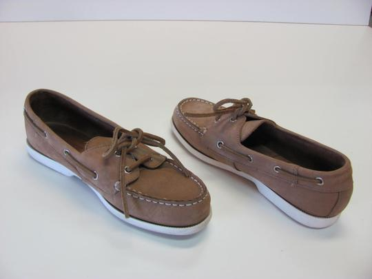 Bass Very Good Condition Size 7.00 Leather neutral Flats