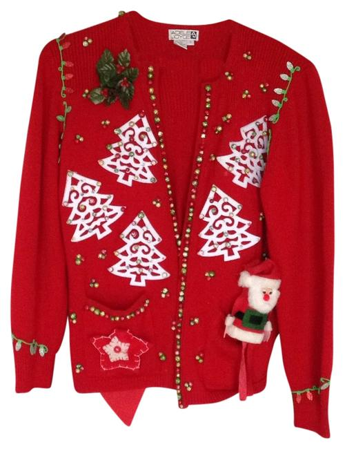 Preload https://item2.tradesy.com/images/red-with-decoration-sweaterpullover-size-6-s-4985896-0-0.jpg?width=400&height=650