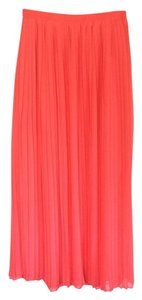 Forever 21 21 Maxi Pleated Maxi Pink Maxi Skirt