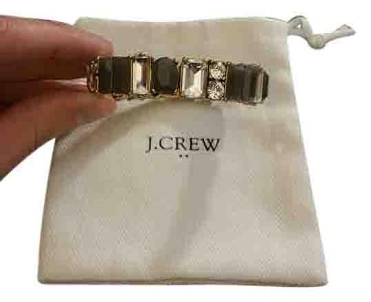 J.Crew Grey and crystal J. Crew elastic bangle