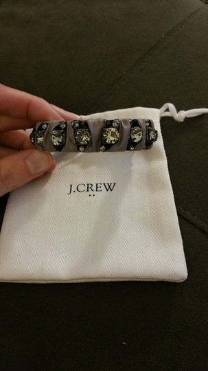 J.Crew J. Crew gray fabric and quartz metal bangle