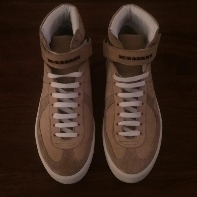 Item - Sand Beige Nubuck Leather High-top Trainers Sneakers Size US 6 Regular (M, B)