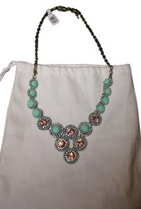 Francesca's Mint and smoky topaz necklace