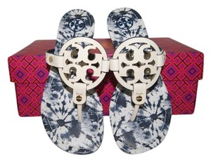 Tory Burch Ivory/ Ivory Multi Sandals