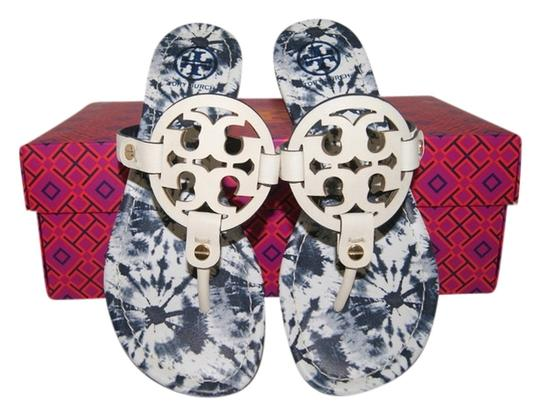 Tory Burch Leather Ivory/ Ivory Multi Sandals