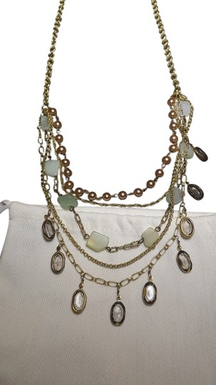 Talbots Mint and gray layered Talbots necklaces