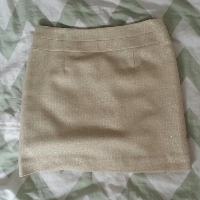 J.Crew Mini Tweed Shimmery Zipper Mini Skirt Shimmery Tweed
