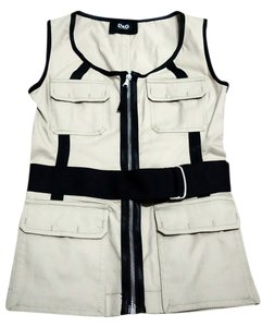 Dolce&Gabbana Sleeveless Top Khaki / Black