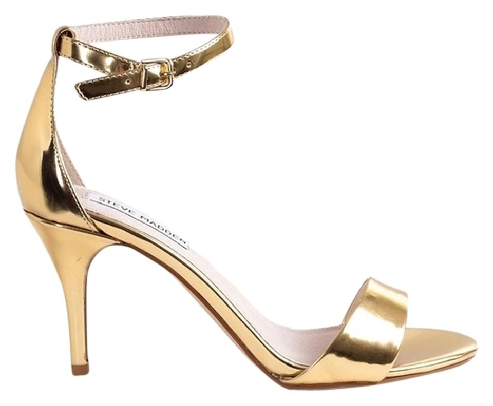 da4edeced19 Steve Madden Sillly Silly Stecy Stacy Heels Heel Size 9 Sexy Elegant Gold  Sandals Image 0 ...