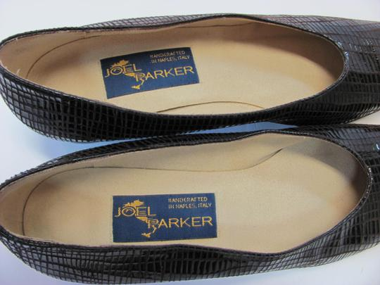 Joel Parker Very Good Condition Leather Size 9.00 Aaaaa Handcrafted Animal Print Brown Pumps
