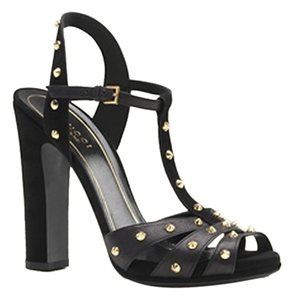 Gucci Leather Black Sandals
