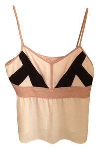 Ann Taylor LOFT Top Creme and black
