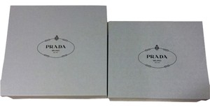 Prada Lot Of 2x Prada Blue Gift Storage Boxes