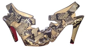 Christian Louboutin Sexy Heels Sandals Fashion Fabulous Fashionista Snakeskin Pumps