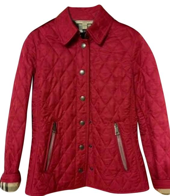 Item - Liggar Red Brit Moredale Diamond Quilted Jacket Size 6 (S)