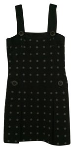 Cynthia Steffe short dress Black - polka dot Sleeveless Cotton on Tradesy