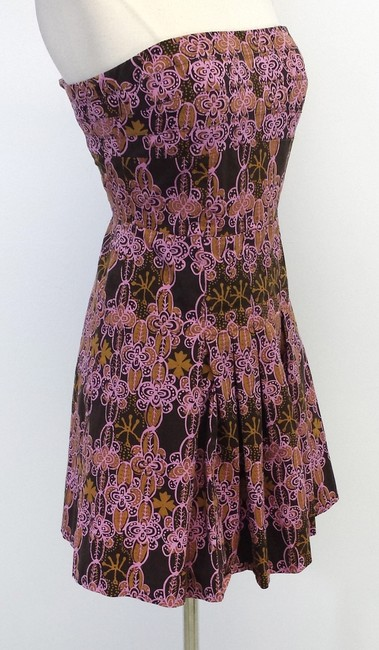 Kay Unger short dress Print Cotton Strapless on Tradesy