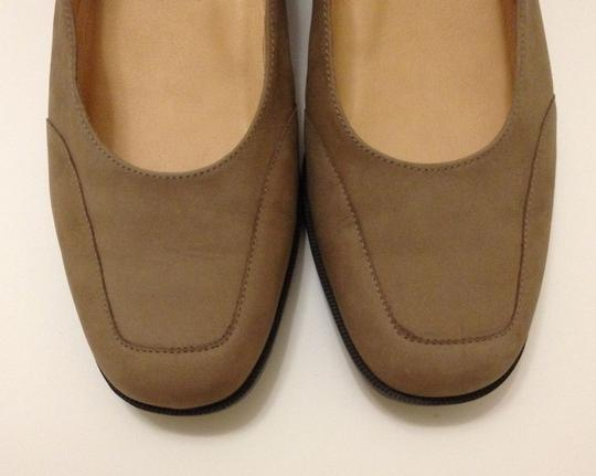 Selby Leather Suede Tan Wedges