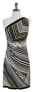 Kay Unger short dress Striped Silk One Shoulder on Tradesy
