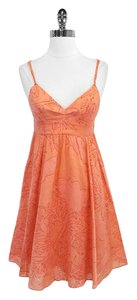 Rebecca Taylor short dress Coral Print Cotton Spaghetti on Tradesy