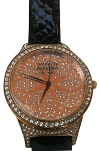 Badgley Mischka Badgley Mischka Women's BA/1348PKBK Swarovski Crystal Accented Watch