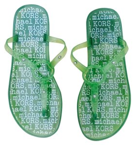 Michael Kors Printed Jelly Green Sandals