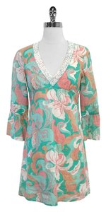 Tibi short dress Floral Cotton Beaded on Tradesy