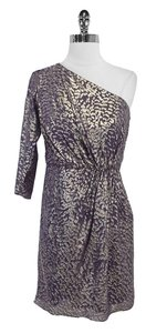 Shoshanna short dress Metallic One Shoulder Silk on Tradesy