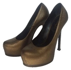 Saint Laurent Metallic Gold Pumps