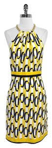 MILLY short dress Chain Link Print Silk Halter on Tradesy