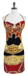 Roberto Cavalli short dress Print Jersey Halter on Tradesy