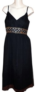 Michelle Antonelli Cocktail Little Beaded Silk Dress