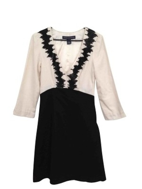 Preload https://item1.tradesy.com/images/french-connection-black-and-cream-above-knee-cocktail-dress-size-0-xs-50-0-0.jpg?width=400&height=650