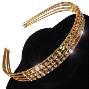 Gold Austrian Crystal Headband