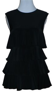 Norma Kamali Everlast Ruffle Tiered Sleeveless Top